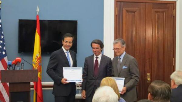 José María Aznar en la entrega del Premio FAES de la Libertad