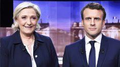 Marine Le Pen y Emmanuel Macron. (Foto: AFP)