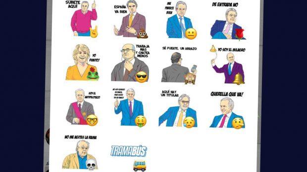 Podemos apunta ahora en la red a Inda, Cebrián, Aznar, Rajoy y González con emoticonos con sus caras