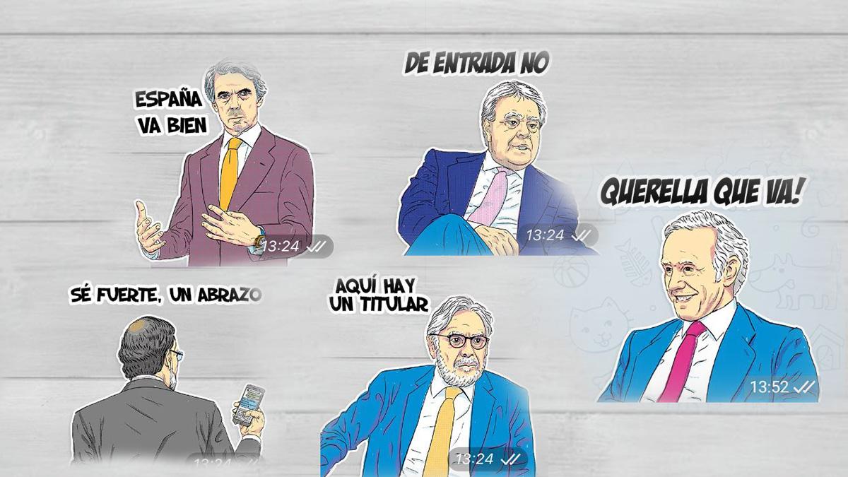 Emoticonos de Podemos difundidos por Telegram