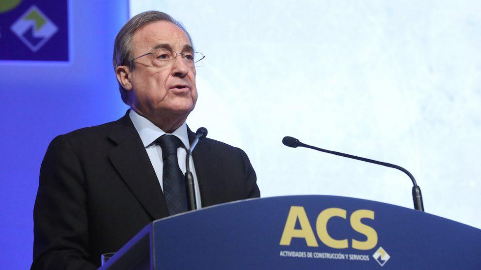 El presidente de ACS, Florentino Pérez, durante su intervención en la Junta de Accionistas de la compañía. (Foto: EFE)