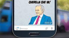 'Sticker' de Eduardo Inda creado por Podemos