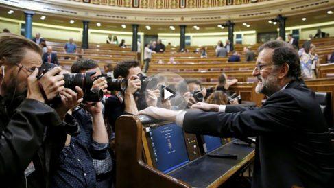 El presidente del Gobierno, Mariano Rajoy, en el debate de Presupuestos en el Congreso.