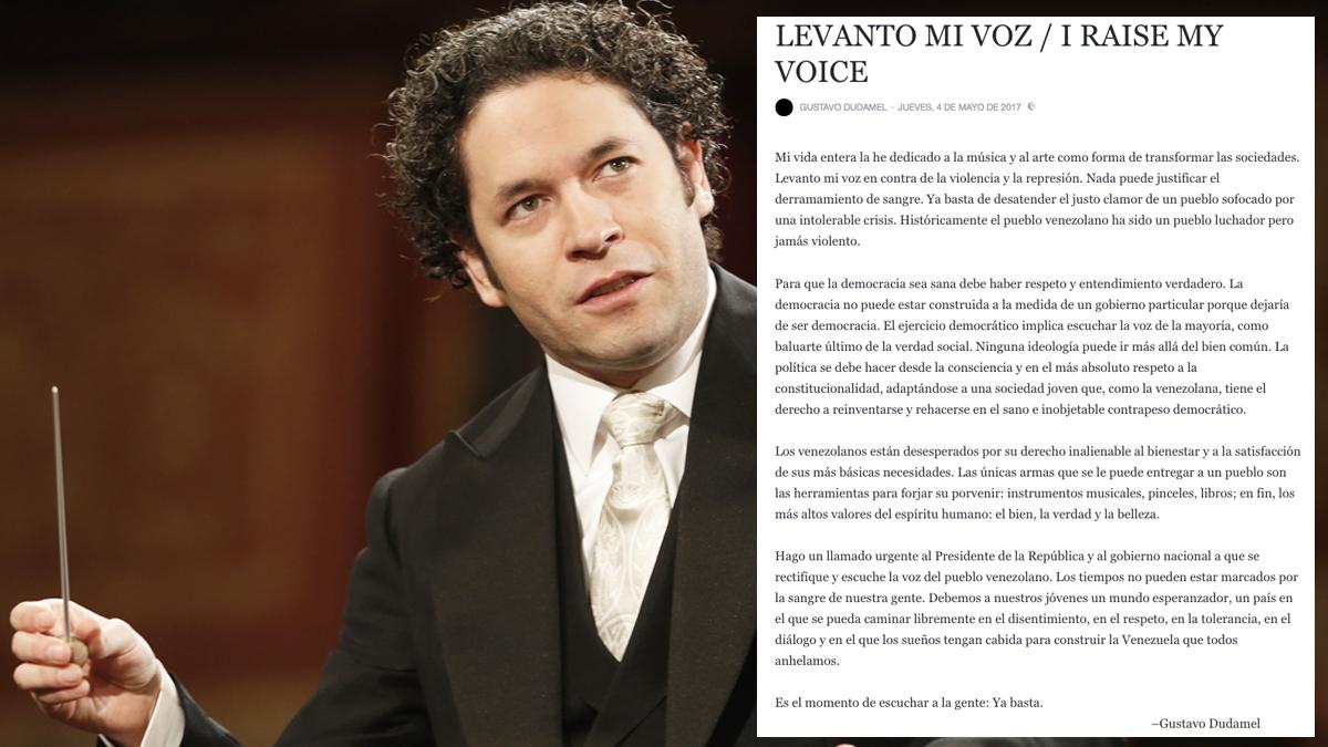 Gustavo Dudamel en el Concierto de Año Nuevo de Viena de 2017. (Foto: AFP)
