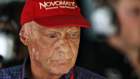 Niki Lauda, presente en un reciente Gran Premio de Fórmula 1. (AFP)