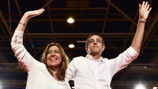 Susana Díaz y Eduardo Madina. (Foto: AFP)