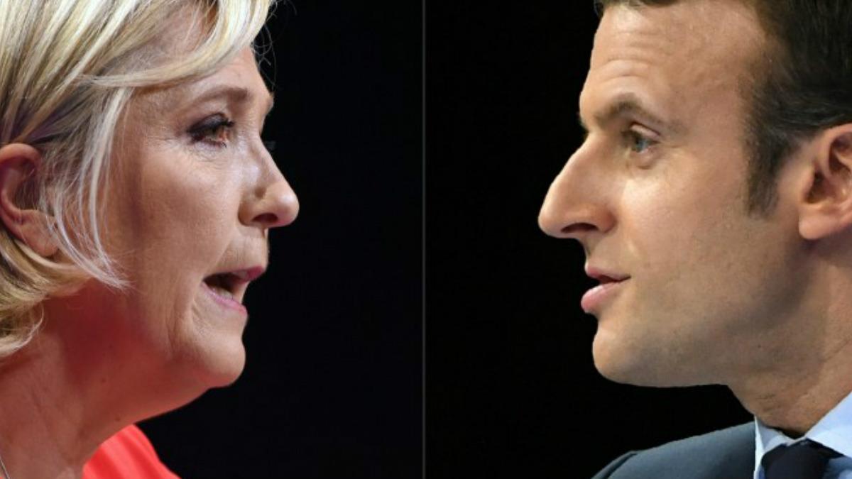 Marine Le Pen y Emmanuel Macron, candidatos a la Presidencia de Francia. Foto: AFP