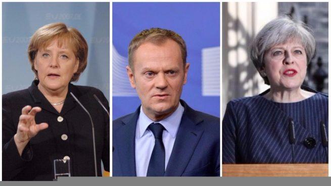 Los líderes europeos celebran la victoria de Macron en Francia