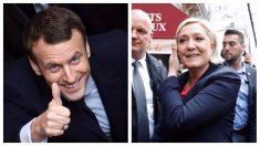 Macron y Le Pen (AFP)