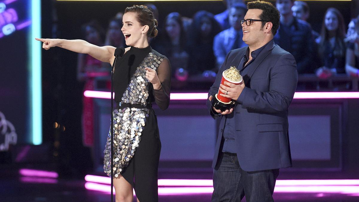 Emma Watson en los MTV Movie & TV Awards. (Foto: AFP)