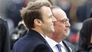 Emmanuel Macron y François Hollande. (Foto: AFP)
