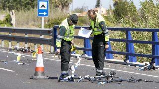 Imagen del lugar donde fueron atropellados otros ciclistas recientemente (Foto: Efe)