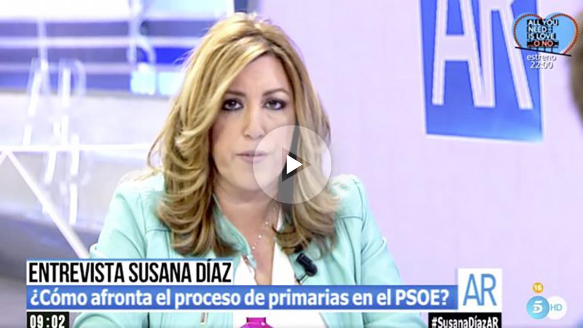Susana Díaz en 'El programa de Ana Rosa'.