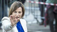 Carme Forcadell, ex presidenta del Parlament, a su llegada como acusada a la Audiencia Nacional. (Foto: AFP)