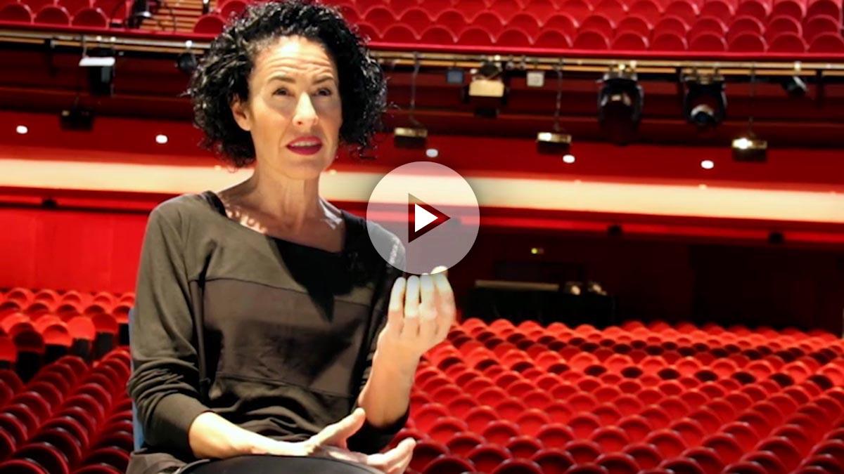 Nina en el teatro Coliseum de la Gran Vía madrileña, donde se representa el musical Mamma Mia!.
