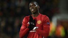Paul Pogba, en un partido con el Manchester United. (AFP)