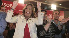 Susana Diaz durante su primer acto de campaña en Granada (Foto:EFE)