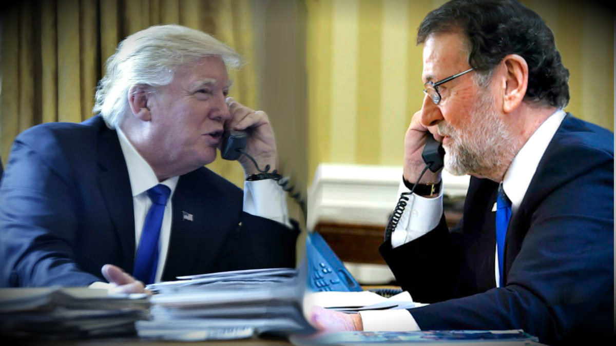Donald Trump, presidente de EEUU, y Mariano Rajoy, presidente del Gobierno de España.