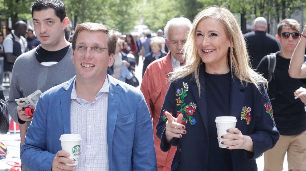 José Luis Martínez-Almeida y Cristina Cifuentes (PP Madrid).