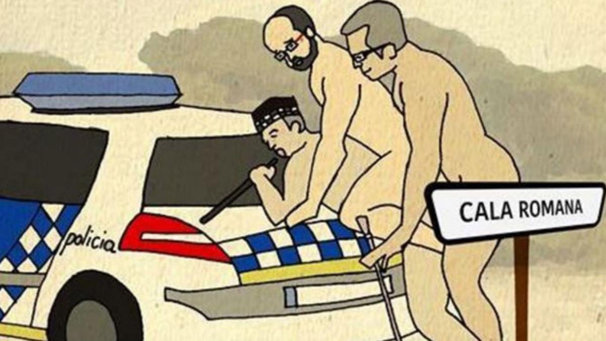 Uno de los vergonzosos y colémicos carteles de la CUP de Tarragona contra la homofobia