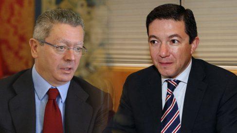 Alberto Ruiz-Gallardón y Pedro Calvo.