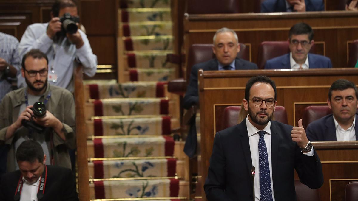 Antonio Hernando, portavoz socialista en el Congreso. (Foto:Paco Toledo)