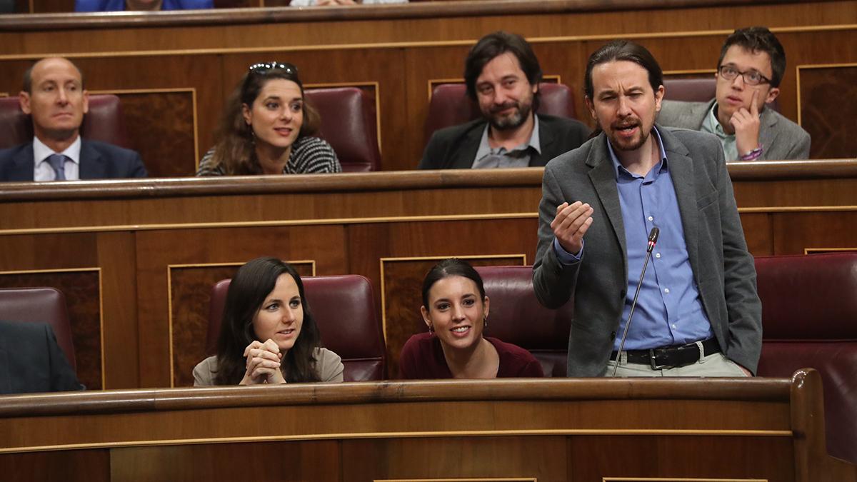 Pablo Iglesias habla en el Congreso. Autor: Paco Toledo