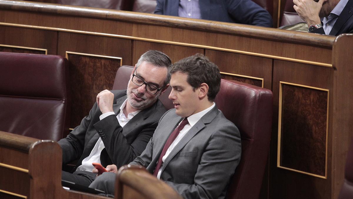 Albert Rivera y José Manuel Villegas. Autor: Paco Toledo