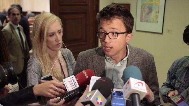 Declaraciones de Iñigo Errejón en el Congreso. Foto: Francisco Toledo.