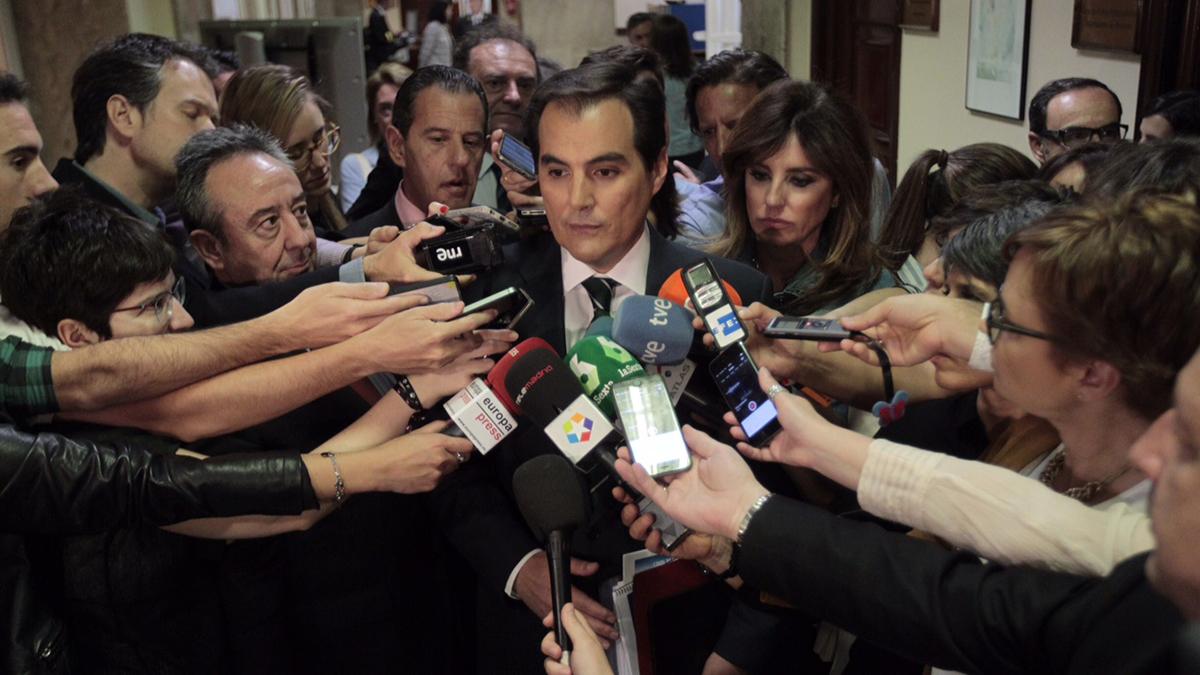 El secretario de Estado de Seguridad, José Antonio Nieto, en el Congreso. (Foto: Paco Toledo)