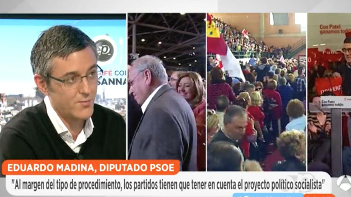 El diputado socialista y miembro de la candidatura de Susana Díaz, Eduardo Madina, en 'Espejo Público' (Foto: Antena 3)