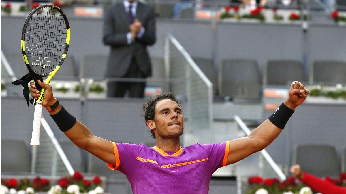 Rafa Nadal celebra su triunfo en octavos. (EFE)