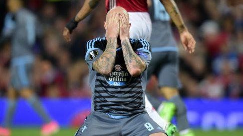 Guidetti se lamenta tras una ocasión del Celta