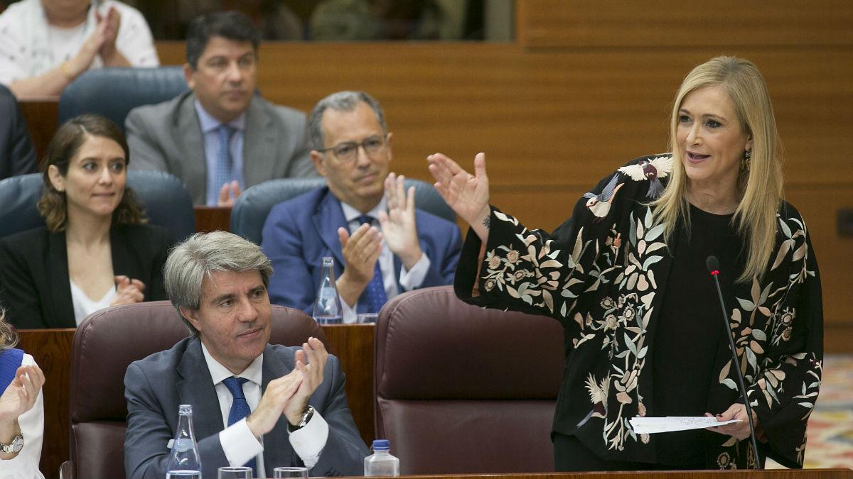 Cristina Cifuentes en el Pleno del Canal de Isabel II (PP Madrid/A.Cuéllar).