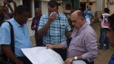 El alcalde Maicao, el gobernador de la Guajira y el ingeniero Francisco Olmos.
