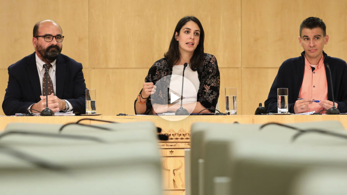 Javier Moscoso, Rita Maestre y Pablo Soto. (Foto: Madrid)