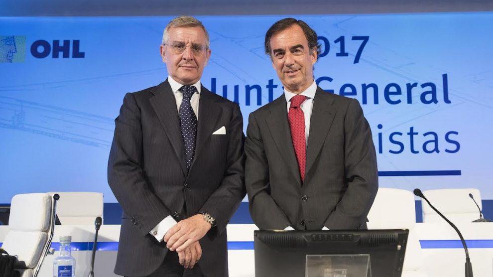 El CEO de OHL, Tomás García Madrid, y el presidente, Juan Villar-Mir de Fuentes.