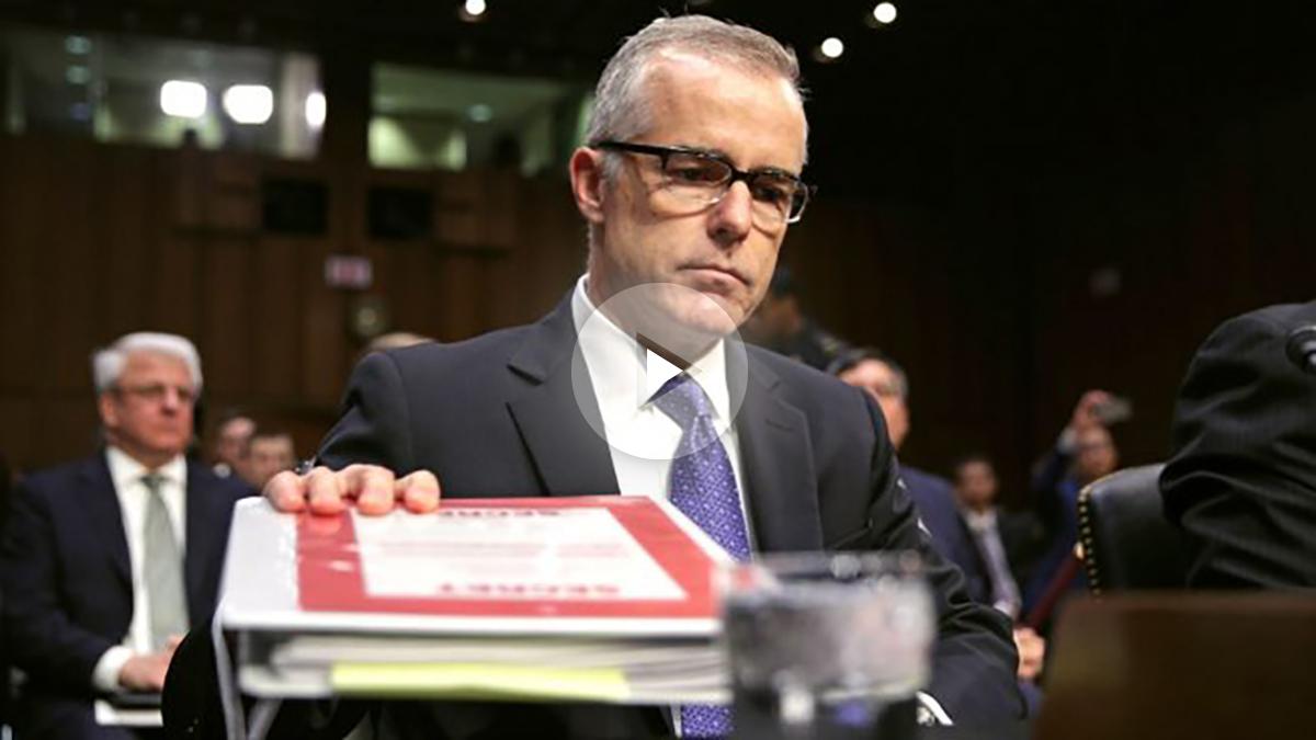 El director interino del FBI, Andrew McCabe, este jueves en el Congreso (Foto: AFP).
