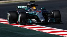 Lewis Hamilton a bordo del Mercedes (Getty)