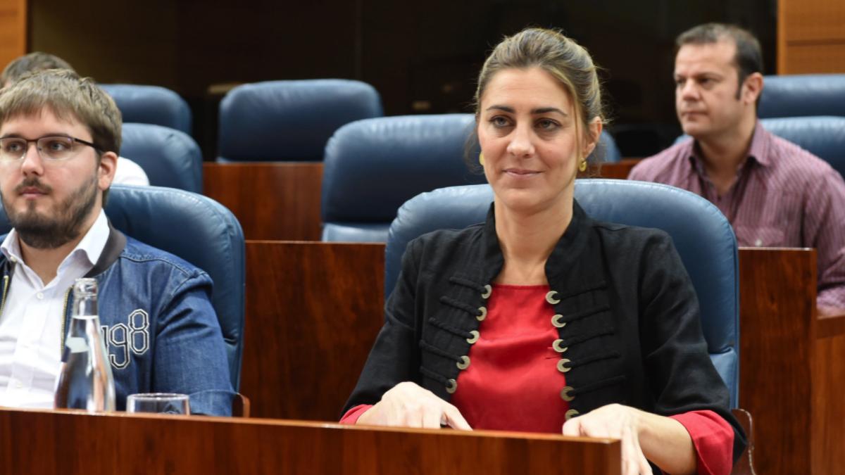 La nueva portavoz de Podemos en la Asamblea de Madrid, Lorena Ruiz-Huerta (Foto: EFE)