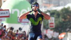Gorka Izagirre celebra su triunfo en la octava etapa del Giro. (AFP)