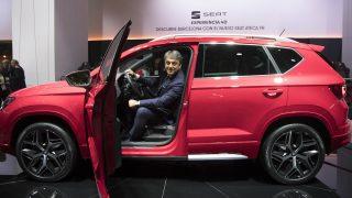El presidente de SEAT, Luca de Meo, en el salón Automobile Barcelona. (Foro: EFE)