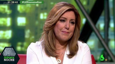 La presidenta Andaluz y aspirante a secretaria general del PSOE Susana Díaz, en La Sexta Noche.