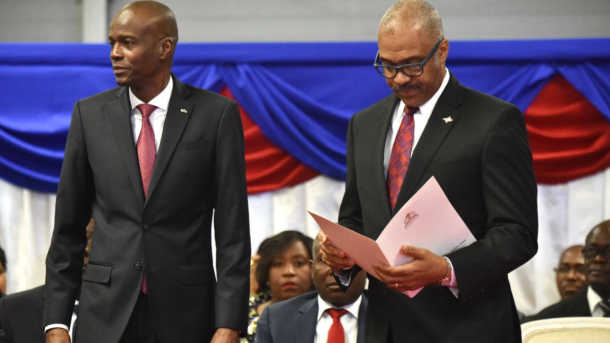 El presidente y el primer ministro de Haití en una reciente imagen (Foto: AFP).