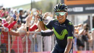 Nairo Quintana celebra su victoria en Blockhaus. (AFP)