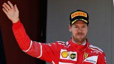 Sebastian Vettel no acabó muy contento el Gran Premio de España de Fórmula 1 tras considerar que Mercedes había utilizado a Valtteri Bottas para bloquearle. (Getty)