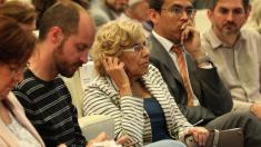 La alcaldesa madrileña este martes en una presentación. (Foto: Madrid)