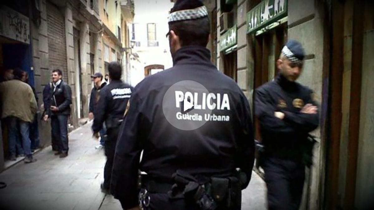 Agentes de la Guardia Urbana de Barcelona.