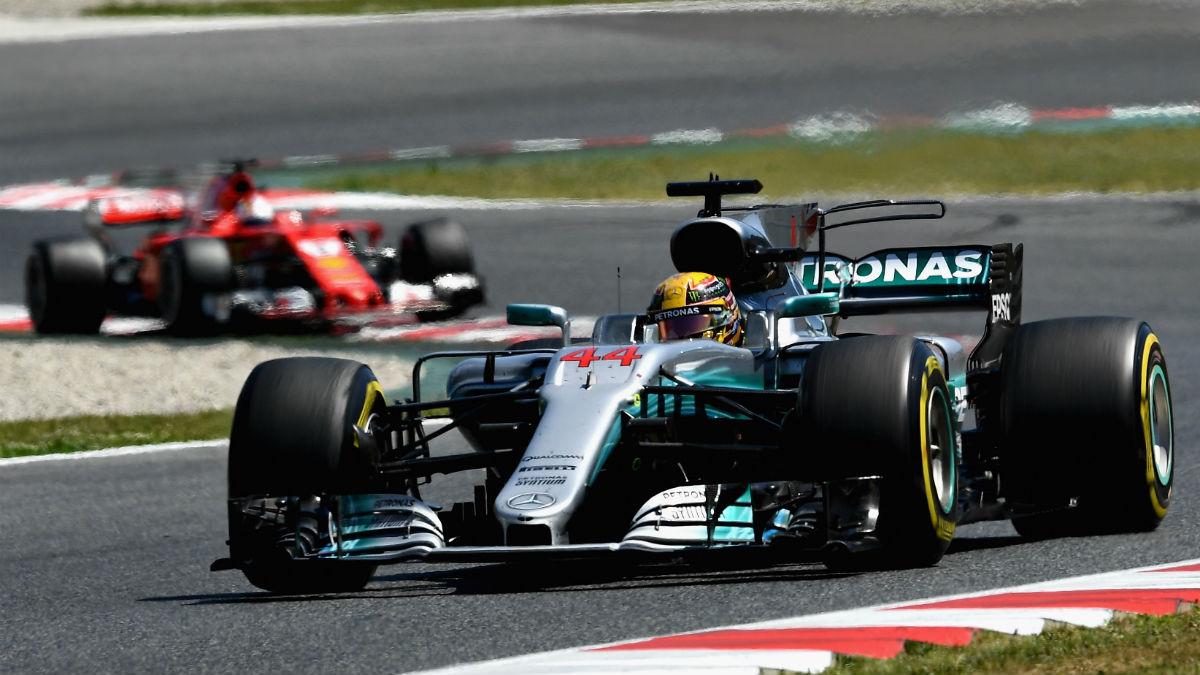 Mercedes ganó a Ferrari en el Gran Premio de España de Fórmula 1 tras un brillante movimiento estratégico. (Getty)