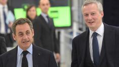 Bruno Le Maire, nuevo ministro de Economía francés con el expresidente Nicolas Sarkozy (Foto: Getty)
